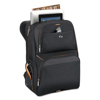 Solo Urban Backpack 17.3 inches 12 1/2 inches x 8 1/2 inches x 18 1/2 inches Black
