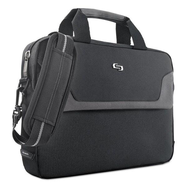 Solo Pro Slim Brief 14.1 inches 14 inches x 1 1/2 inches x 10 1/2 inches Black