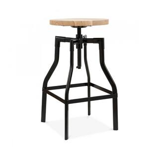 Machinist Semi-Gloss Black Adjustable Steel Barstool 26-32 Inch|https://ak1.ostkcdn.com/images/products/13986061/P20610980.jpg?impolicy=medium