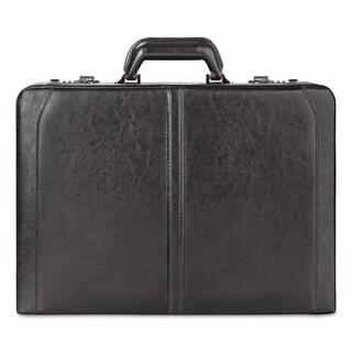 Solo Classic Leather Attache 16 inches 18 inches x 4 7/50 inches x 13 inches Black