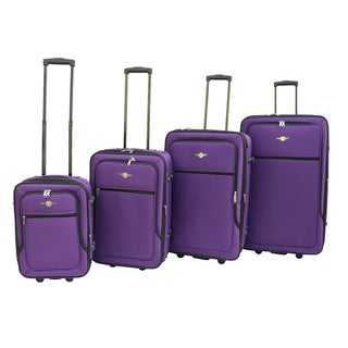 Rivolite Ultra Light 4 Piece Expandable Luggage Set