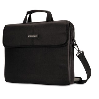 Kensington 15.6-inch Laptop Sleeve Padded Interior Inside/Outside Pockets Black