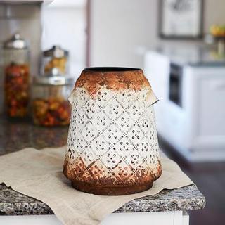 Kris Kros Metal 11.5-inch Vase