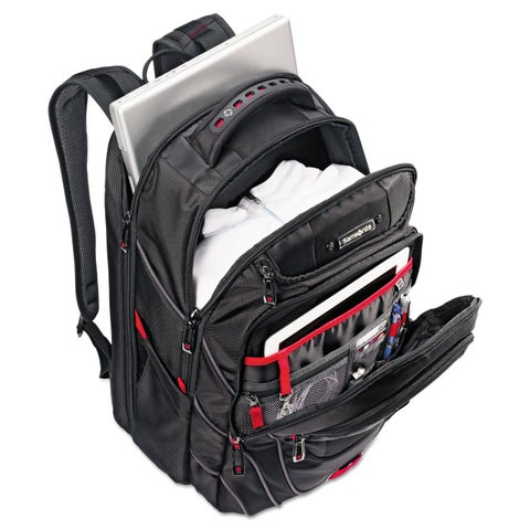Samsonite Tectonic PFT Backpack 13 x 9 x 19 Black/Red