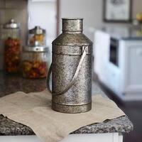 Silver Metal 14.75-inch Milk Pail Vase