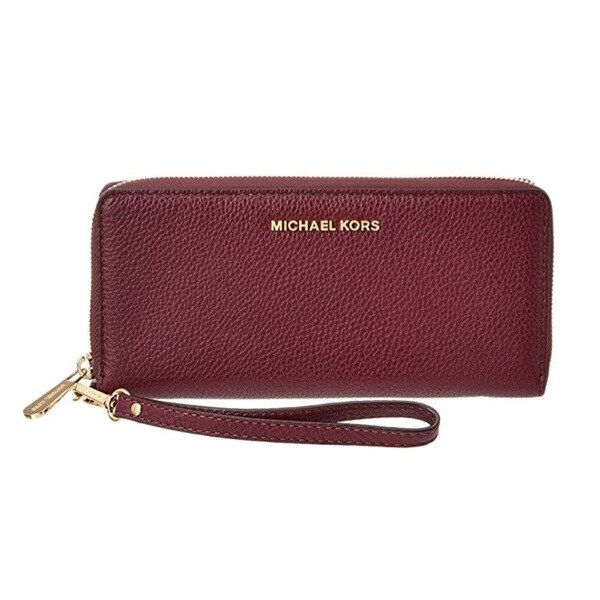 71384584c9cb Shop MICHAEL Michael Kors Bedford Plum Travel Continental Wallet - Free  Shipping Today - Overstock - 13986161