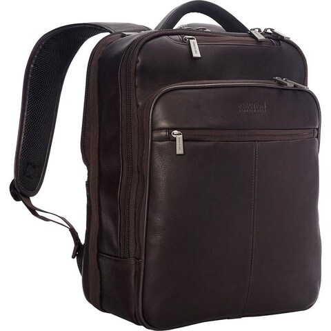 "Kenneth Cole Reaction ""Back-Stage Access"" Colombian Leather Slim TSA Checkpoint-Friendly 16-inch Laptop Business Backpack"