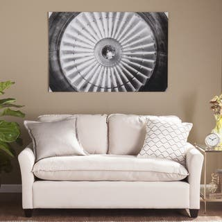Harper Blvd Jet Engine Glass Wall Art