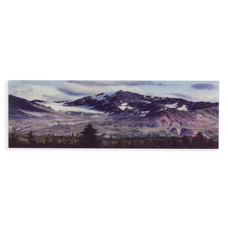 Harper Blvd Snow Covered Fall Mountains in Colorado Glass Wall Art