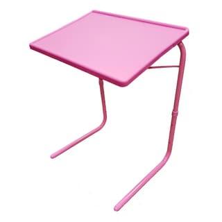 Portable Foldable Wood Metal Adjustable TV Tray Table