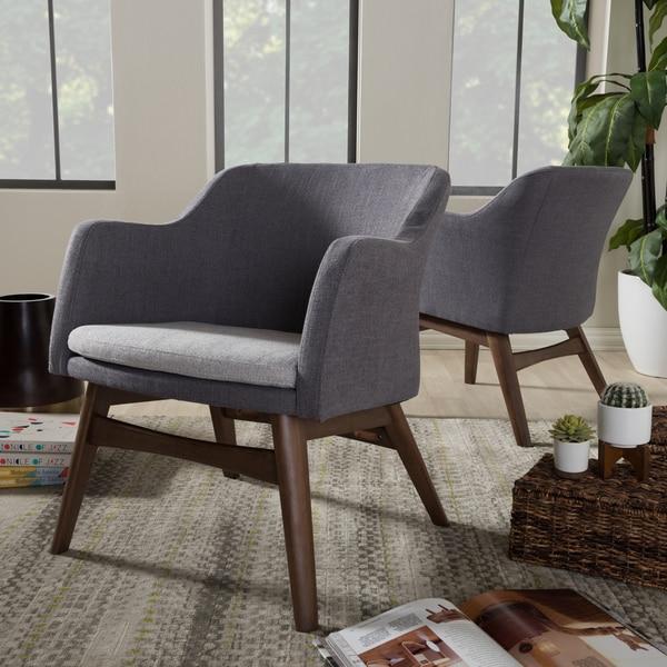 Shop Baxton Studio Mid Century Two Tone Grey Fabric 2