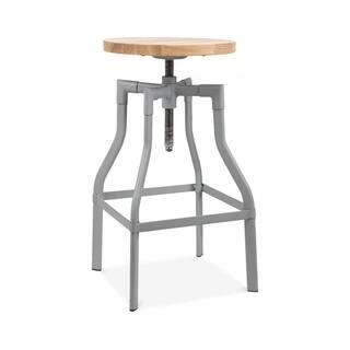 Machinist Grey Ash Wood Adjustable Steel Barstool 26-32 Inch|https://ak1.ostkcdn.com/images/products/13986256/P20611067.jpg?impolicy=medium