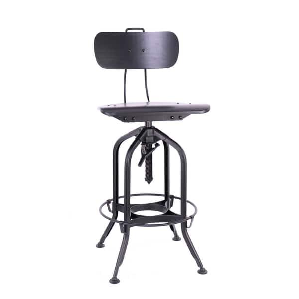 Sensational Shop Toledo Black Black Adjustable High Back Bar Chair 25 Short Links Chair Design For Home Short Linksinfo