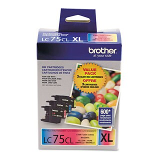 Brother LC753PKS Innobella High-Yield Ink Cyan/Magenta/Yellow 3/Pack