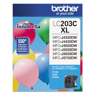 Brother LC203C Innobella High-Yield Ink Cyan