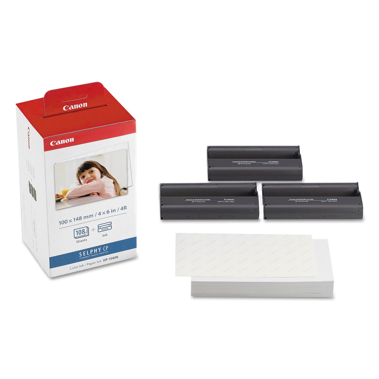 Canon 3115B001 (KP-108IN) Color Ink and Paper Set Clear/C...
