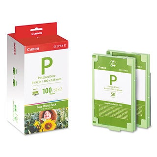 Canon EP100 (E-P100) Easy Photo Pack Ink and Paper Set Tri-Color
