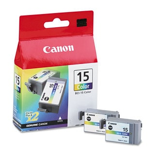 Canon BCI15 (BCI-15) Ink Tri-Color 2/Pack