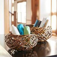 Household Essentials Autumn Bird Nest Willow 2-piece Basket Set