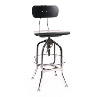 Toledo Black/Chrome Adjustable High-Back Bar Chair