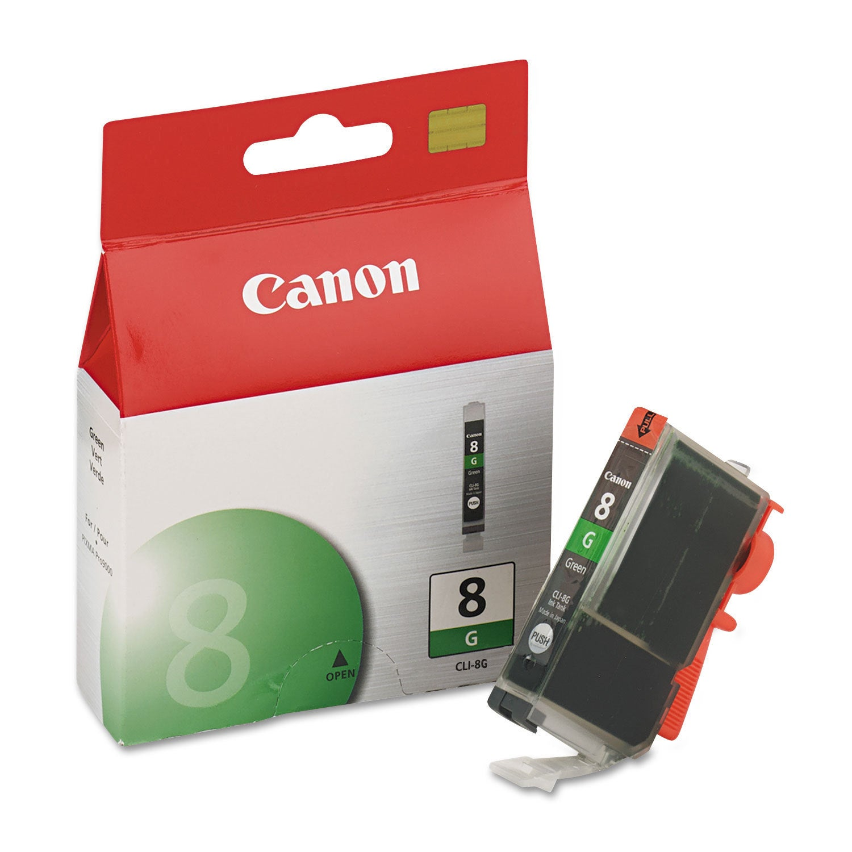 Canon CLI8G (CLI-8) Ink Green (Green), Black