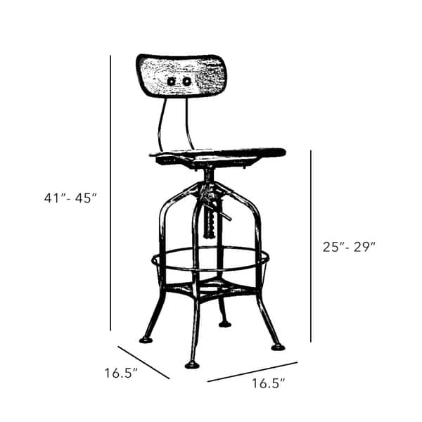 Admirable Shop Toledo White Chrome Adjustable High Back Bar Chair 25 Ocoug Best Dining Table And Chair Ideas Images Ocougorg