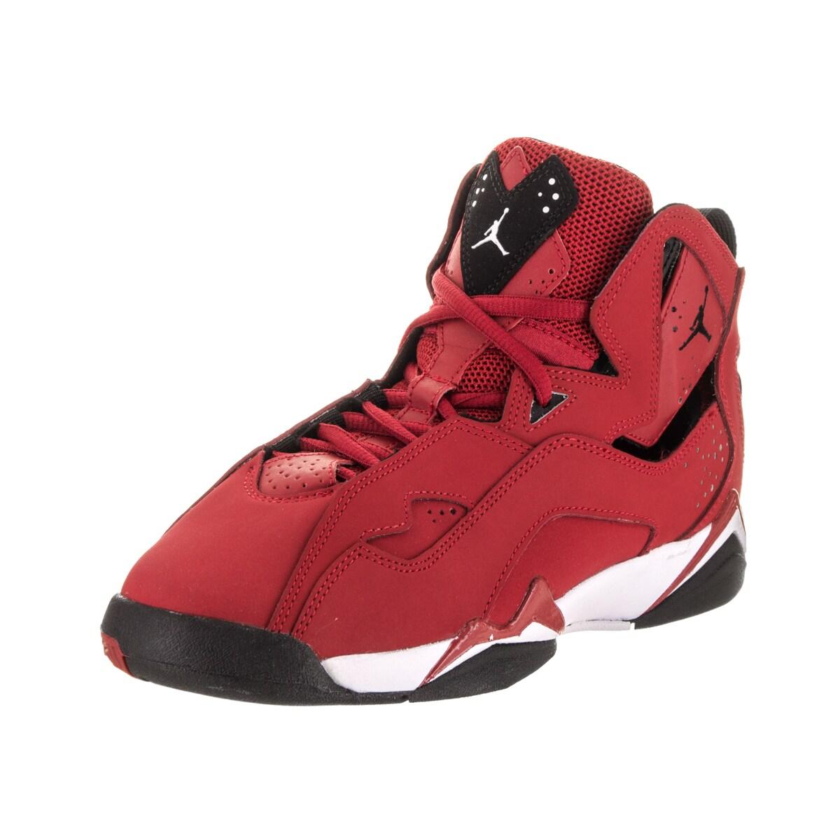 Nike Jordan Kids Jordan True Flight Red/Black Basketball ...