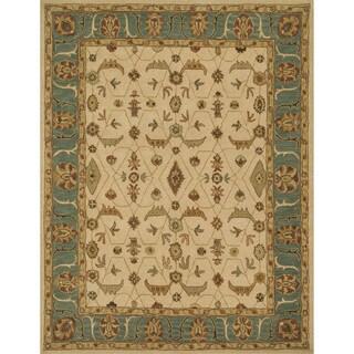 Hand-tufted Mason Ivory/ Sea Wool Rug (5' x 7'6)