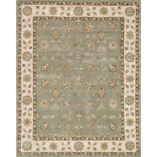 Hand-tufted Mason Blue/ Beige Wool Rug (7'9 x 9'9)