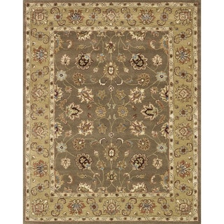 Hand-tufted Mason Mocha/ Light Gold Wool Rug (7'9 x 9'9)