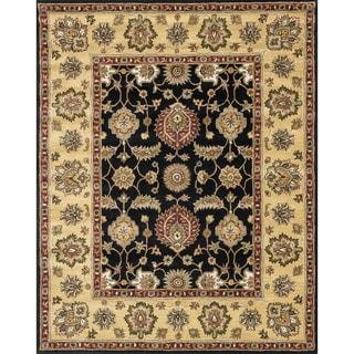 Hand-tufted Mason Black/ Gold Wool Rug (7'9 x 9'9)