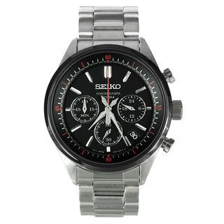 Seiko Chronograph SSB063P1 Men's Black Dial Watch