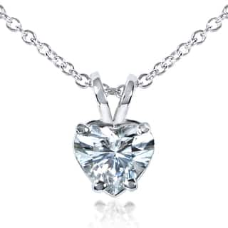 Annello by Kobelli 14k White Gold 6.5mm Heart Shape Moissanite (FG) Solitaire Necklace|https://ak1.ostkcdn.com/images/products/13986667/P20611412.jpg?impolicy=medium