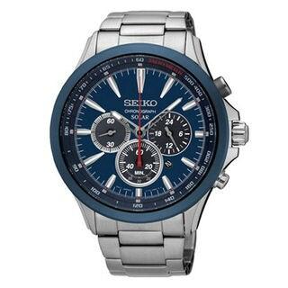 Seiko Chronograph SSC495P1 Men's Blue Dial Watch