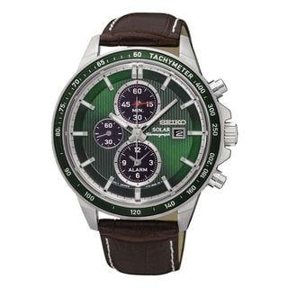 Seiko Chronograph SSC501P1 Men's Green Dial Watch