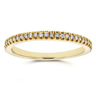 Annello by Kobelli 14k Yellow Gold 1/6ct TDW Diamond Split Prong Wedding Ring (GH, I1-I2)