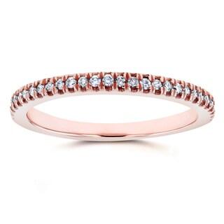 Annello by Kobelli 14k Rose Gold 1/6ct TDW Diamond Split Prong Wedding Ring (GH, I1-I2)