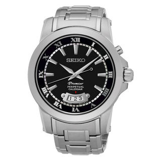 Seiko Premier SNQ147P1 Men's Black Dial Watch