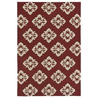 Trends Red Damask Hand Tufted Rug - 8' x 10'