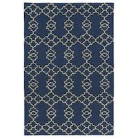 Trends Blue Trellis Hand Tufted Rug - 5' x 7'