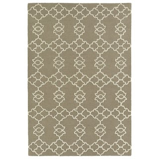Trends Light Brown Hand Tufted Rug (8'0 x 10'0)