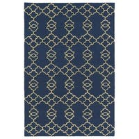 Trends Blue Trellis Hand Tufted Rug - 8' x 10'