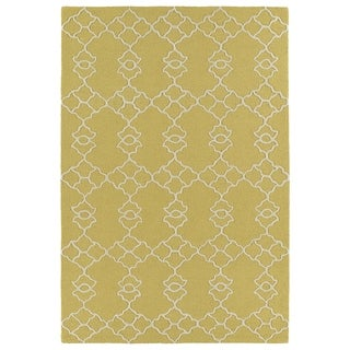 Trends Gold Trellis Hand Tufted Rug (8'0 x 10'0)