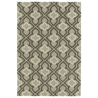 Trends Grey Mosaic Hand Tufted Rug (8'0 x 10'0)