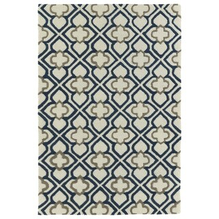 Trends Ivory Mosaic Hand Tufted Rug (8'0 x 10'0)