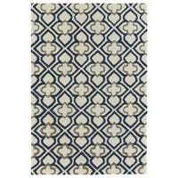 Trends Ivory Mosaic Hand Tufted Rug - 5' x 7'