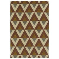Trends Mid-Century Brick Hand Tufted Rug - 8' x 10'