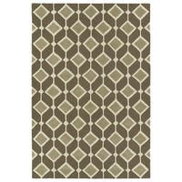 Trends Mid-Century Brown Hand Tufted Rug - 8' x 10'