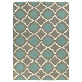 Trends Light Brown Geo Hand Tufted Rug (8'0 x 10'0)
