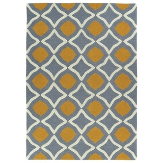 Trends Grey Geo Hand Tufted Rug (8'0 x 10'0)